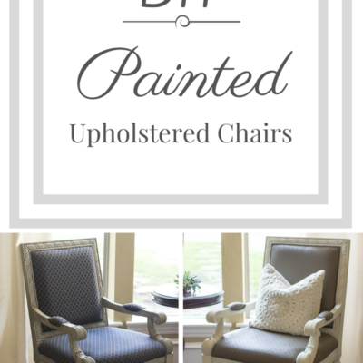 DIY: Painting an Upholstered Chair