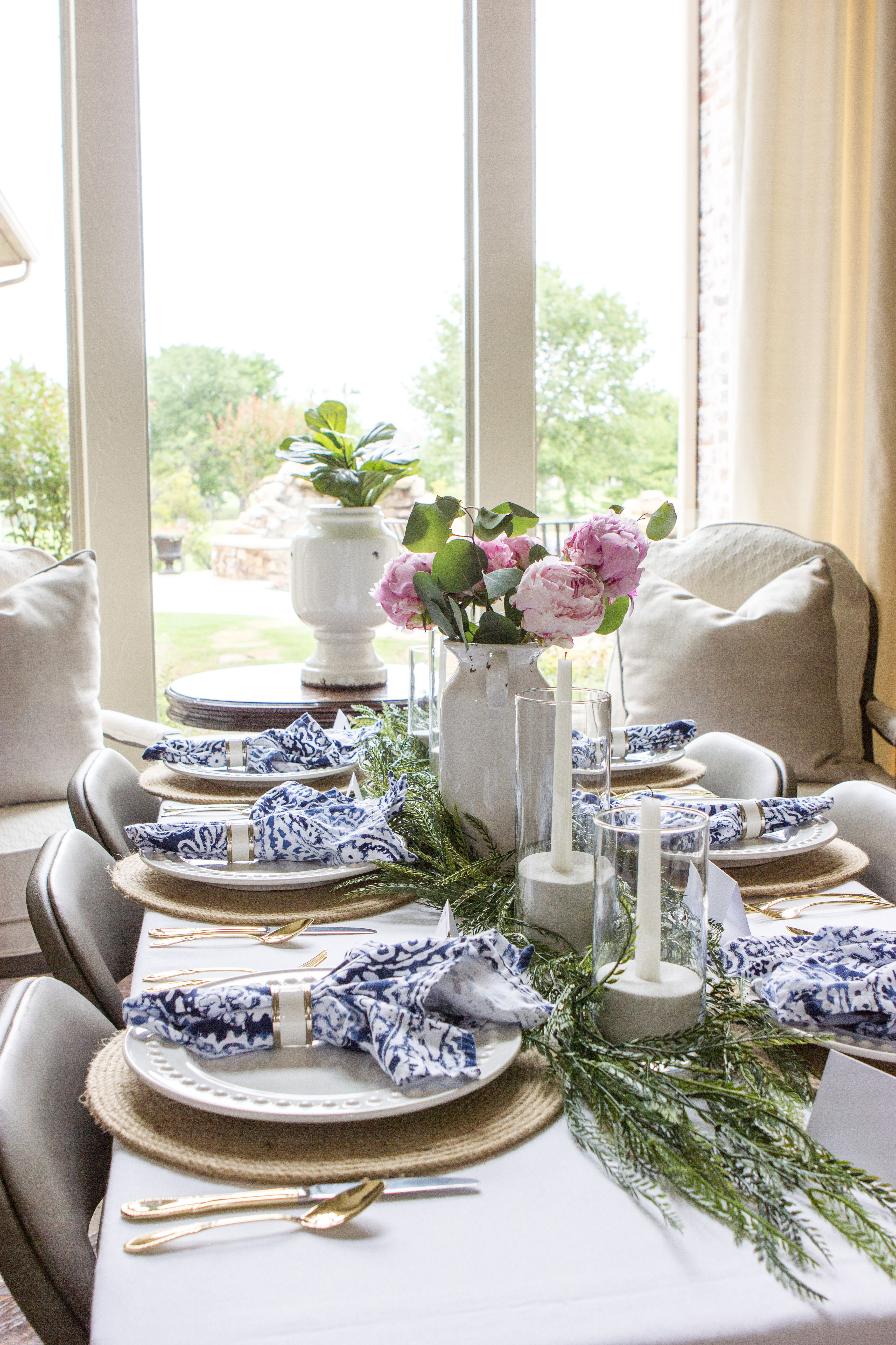 Summer Blush and Blue Bridal Shower for my Sister